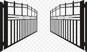 Gate Fence Clip Art Png 2228x1344px Gate Architecture Black Black And White Facade Download Free