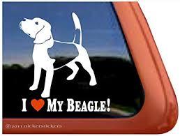 Amazon Com I Love My Beagle Dog Vinyl Window Auto Decal Sticker Automotive