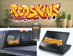 Washington Redskins 4 X 17 White Letters Decal For Sale Online Ebay