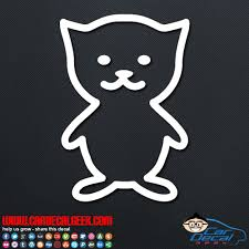 Cute Kitty Cat Outline Decal Sticker Graphic