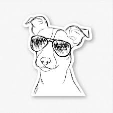 Max The Jack Russell Terrier Decal Sticker Inkopious