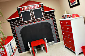 Pin By Mindy Hill Hutton On Ideas For Boys Rooms Fire Truck Room Truck Room Fire Truck Bedroom