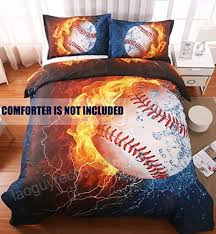sports baseball microfiber duvet cover