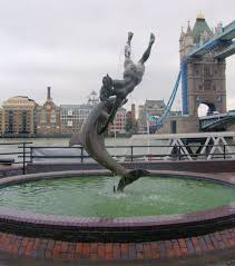 dolphin statue at tower bridge london