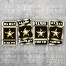 U S Army Proud Vinyl Decal Sticker Military Car Laptop Dad Mom Etsy