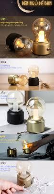 Đèn ngủ để bàn mini, LED pin sạc, dùng làm đèn trang trí [SÁNG 72h LIÊN  TỤC], tặng kèm dây sạc dài 1m 28k, tính năng đèn tích điện rất cao -