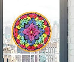 Amazon Com Yadda Yadda Design Co Mandala Floral Mandala See Through Vinyl Window Decal Sticker Copyright 5 Inch Dia Color Choices Medium Orange Automotive