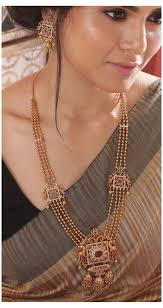Buy Myra Long Necklace Set | Indian Long Necklace | vozeli.com