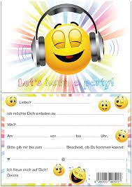 Edition Colibri Let S Have A Party Smiley Invitaciones Emoji