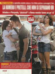 FOTO : Ariadna Romero e Pierpaolo Pretelli col figlio Leonardo a Roma (Vero)
