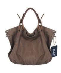 canvas genuine leather tote handbag