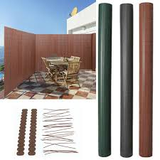 Garden Pvc Bamboo Fencing Screening Privacy Fence Panel Fixing Kits Cover Strips Ebay