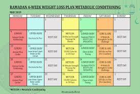 28 day ramadan workout plan