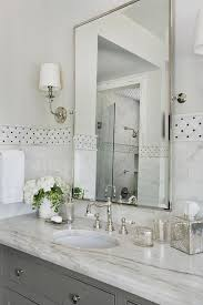 polished nickel bathroom mirror design
