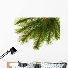 Artificial Pine Tree Branch Wall Decal Wallmonkeys Com