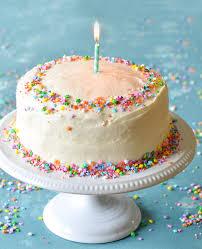 vanilla birthday cake with old