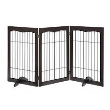 Unipaws Large Free Standing Dog Gate Extra Tall Safety Wood Pet Gate Expands Up To 152cm
