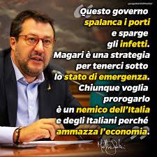 Matteo Salvini - Chi vuole prorogare lo stato di emergenza ...