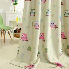 Lovely Cartoon Owl Curtain Finished Window Blackout Curtains For Children Kids Bedroom Wish
