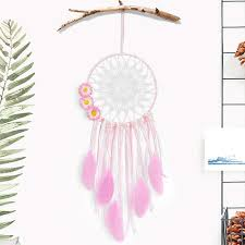 Tree Bud Bu0989s 7375mn Led Dream Catcher Handmade Dreamcatcher Feather Indian Wall Hanging Decoration Ornament For Warm Homes And Kids Room Teepee T