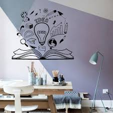 Wall Decal Idea Brainstorm Reading Book Motivation Vinyl Window Sticker Library Office Kids Study Room Interior Decor Mural Q595 Wall Stickers Aliexpress