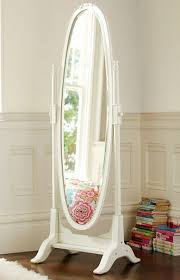 elegant white floor mirrors