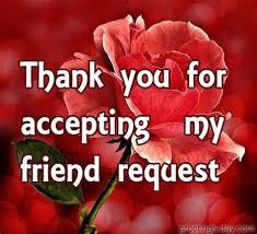 thanks for accepting my friend request quotes