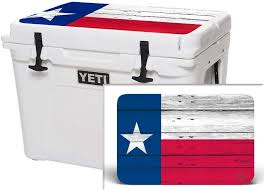 Amazon Com Usatuff Wrap Cooler Not Included Lid Kit Fits Yeti 125qt Tundra Protective Custom Vinyl Decal Texas Flag Wood Sports Outdoors
