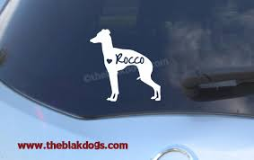 Italian Greyhound Silhouette Vinyl Sticker Car Decal Etsy