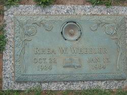Rhea Addie Wallace Wheeler (1924-1964) - Find A Grave Memorial