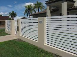 Horizontal Slat White Brisbane Gates