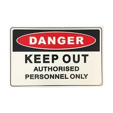 Brutus 450 X 300mm Keep Out Safety Sign Bunnings Warehouse