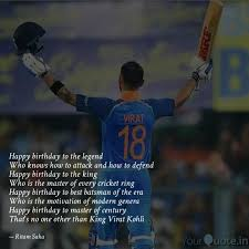 best happybirthdayviratkohli quotes status shayari poetry