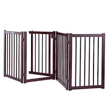 36 Configurable Portable Folding Wood Pets Dog Safety Fence Gate 360 Rotate Us