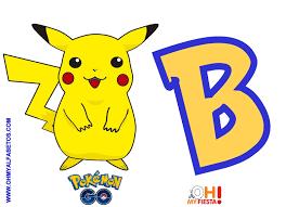 Alfabeto Gratis De Pikachu Pokemon Go Oh My Alfabetos
