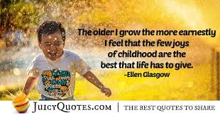 joys of childhood quote picture