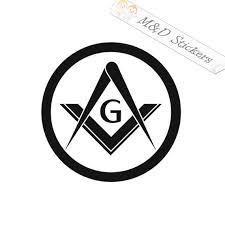 2x Freemasons Illuminati Logo Vinyl Decal Sticker Different Etsy