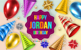 Download Wallpapers Happy Birthday Jordan Birthday Balloon Background Jordan Creative Art Happy Jordan Birthday Silk Bows Jordan Birthday Birthday Party Background For Desktop Free Pictures For Desktop Free