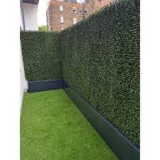 3 Ft H X 3 Ft W Artificial Planes Milan Hedge Polyethylene Fence Panel In 2020 Fence Design Artificial Hedges Backyard Landscaping