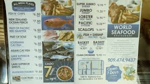 World Seafood Restaurant menu in San ...