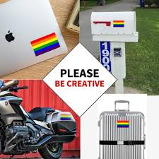 Anley 5 In X 3 In Lgbt Pride Decal Rainbow Flag Lesbian Gay Bisexual Transgender Pride Reflective Car Stickers 3 Pack A Decal Rainbow 3pc The Home Depot