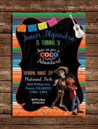 Invitacion De Cumpleanos De Nino Tema Coco Fiesta Mexicana