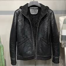 mens real soft fur coat jackets hooded