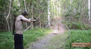 primitive technology making bow and
