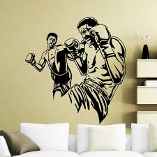 Mma Fighters High Kick Wall Sticker Extreme Fight Sport Boxer Vinyl Wall Decal Home Room Interior Decor Waterproof Mural X645 Wall Stickers Aliexpress