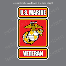 Marine Veteran Usmc Ega Globe Military Bumper Sticker Decal