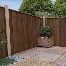4ft X 6ft Vertical Hit And Miss Pressure Treated Fence Panel One Garden
