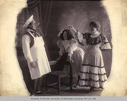 Pat Prior, Effie May Norris and daughter, known as CollecThe Prior Trios of  t, n.d. - Prior and Norris Vaudeville Troupe Photographs and Ephemera,  1886-1915 - University of Washington Digital Collections