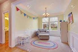 Cute Kids Play Room With White Carpet Floor And Rug Stock Photo Picture And Royalty Free Image Image 60403591