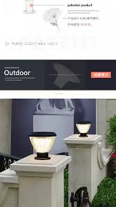 Solar Wall Light Outdoor Garden Pillar Light Round Post Lamp Post Door Villa Waterproof Fence Light Lazada Ph